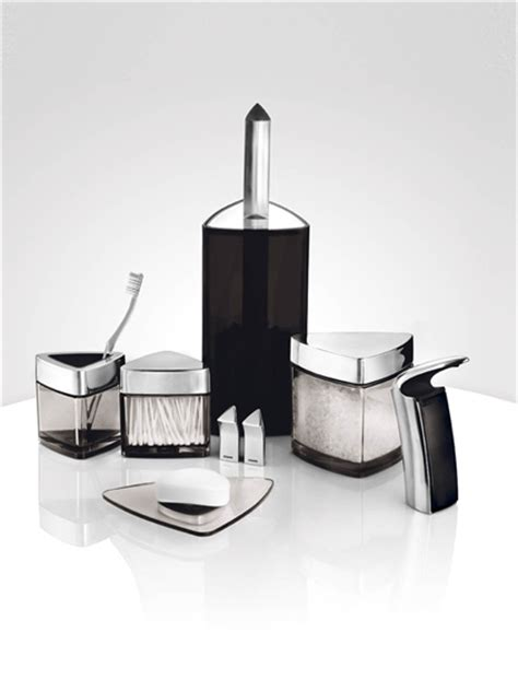 designer bathroom accessories modern bathroom set for bachelor by stelton digsdigs