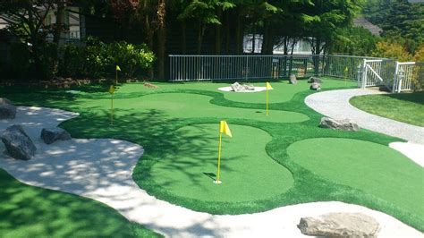 golf backyard backyard mini golf landscape design idea and decorations
