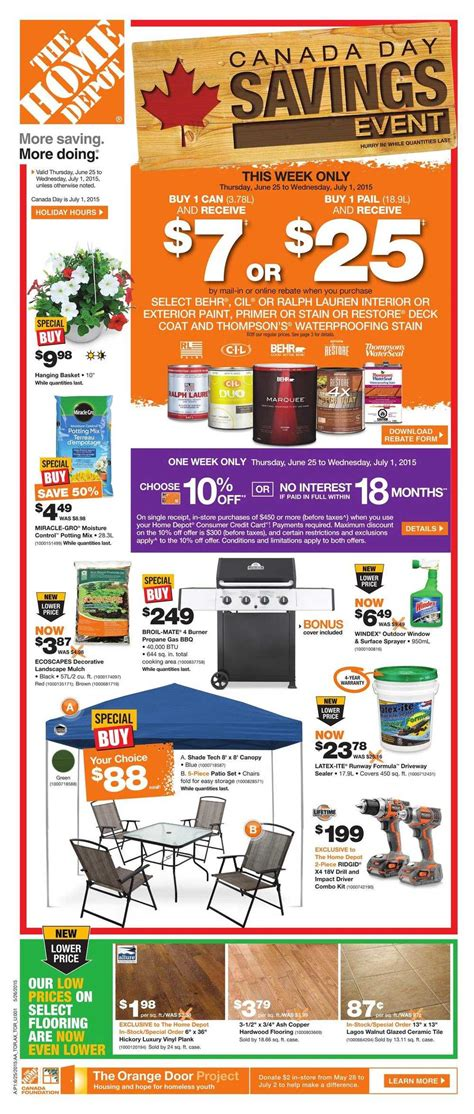 home depot on flyer june 25 to july 1 canada