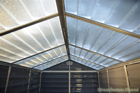 palram  plastic skylight amber shed greenhouse stores