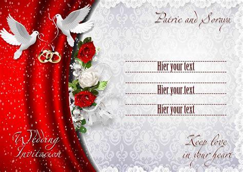 wedding invitation cards psd files wedding invitation design free fresh wedding