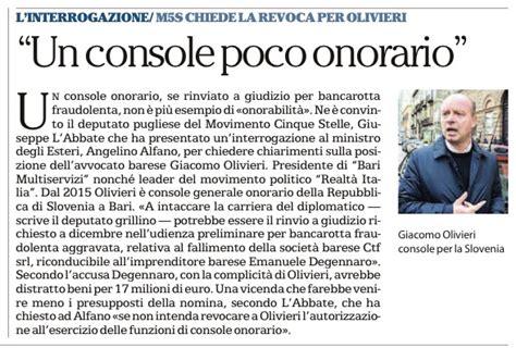 console onorario requisiti il caso console giacomo olivieri giuseppe l abbate