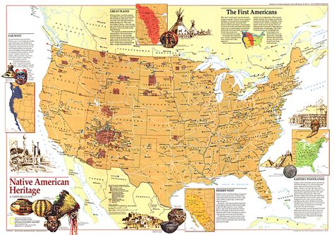 american natives map american heritage map