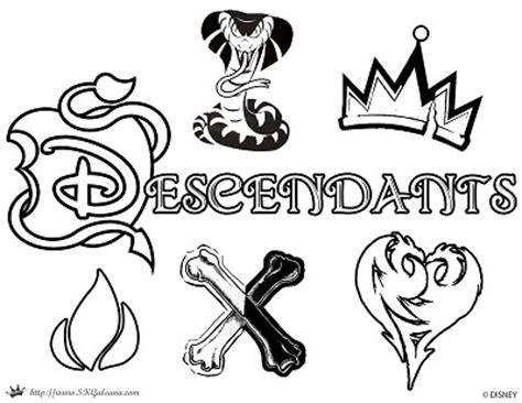 descendants movie coloring pages descendants coloring page logo disney channel movie
