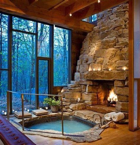 Log Cabin With Indoor Tub by Indoor Tub Winter Cabin Home
