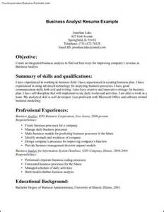 Sles Of Business Resumes by Business Administration Resume Template Free Sles