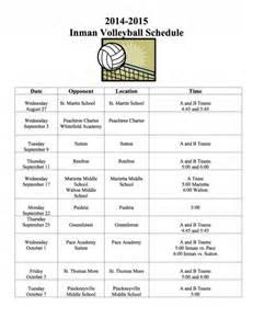 high volleyball practice schedule