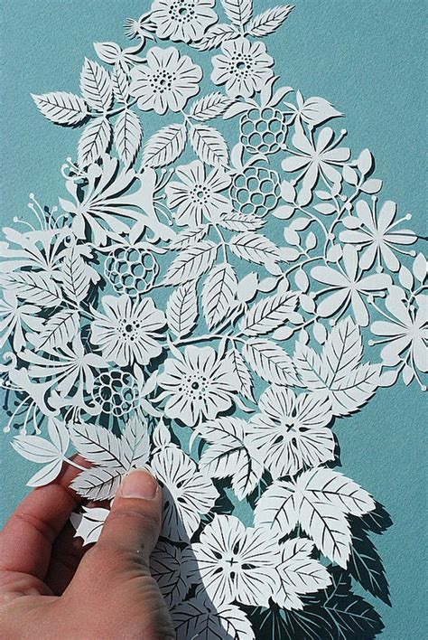 Paper Cutting Flowers Crafts - beautiful paper cutting meandyoulookbook