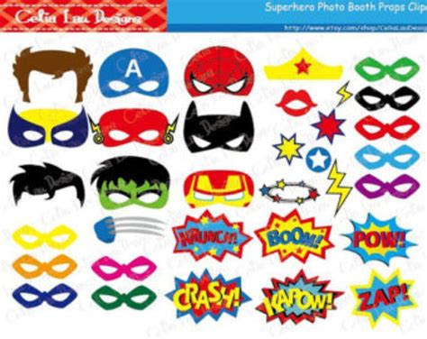 printable superhero party decorations superhero photo booth props diy printable superhero