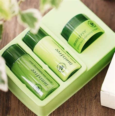 Harga Innisfree Green Tea Fresh Special Kit bá dæ á ng trẠng da mini innisfree green tea fresh special kit