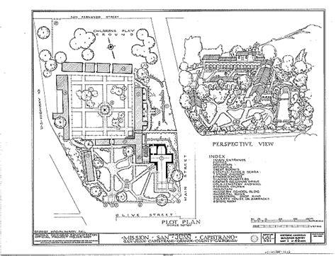 Mission San Diego De Alcala Floor Plan File Habs Mission San Juan Capistrano Plot Plan Png
