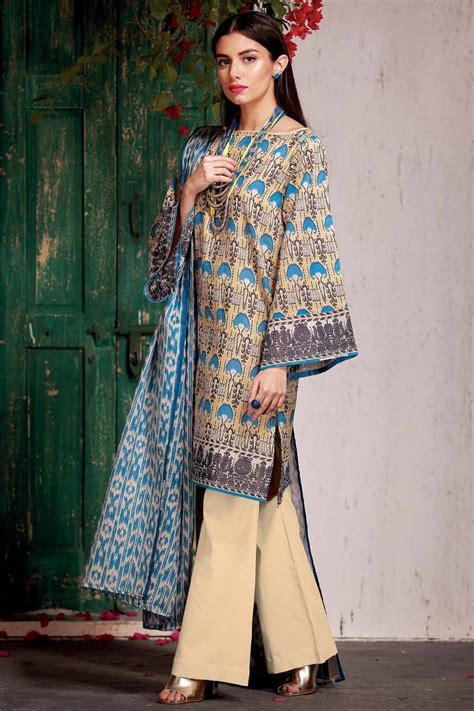 dress design lawn pakistan khaadi latest summer lawn dresses designs collection 2018 2019
