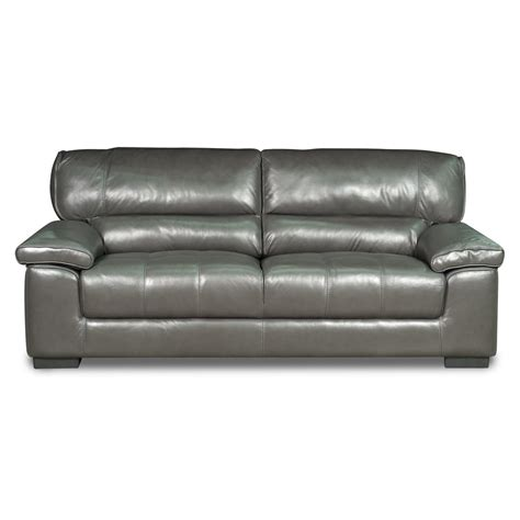 grey leather sofa milan 89 quot grey leather sofa