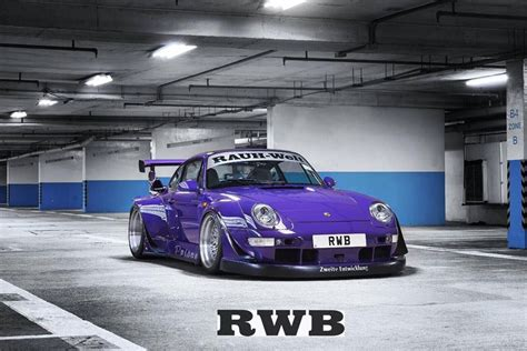 rauh welt porsche purple purple rwb things with motors porsche