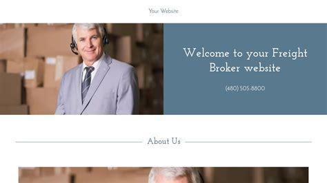 Exle 1 Freight Broker Website Template Godaddy Freight Broker Website Templates