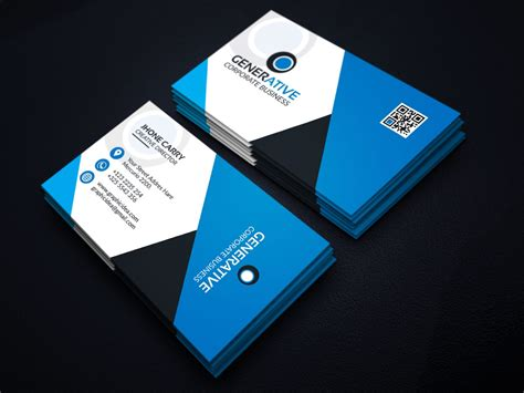 Business Card Desing Template by Eps Sleek Business Card Design Template 001599 Template