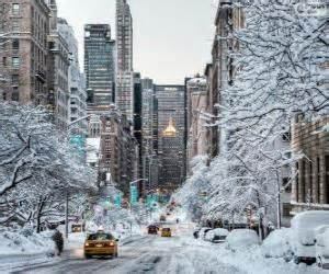 Winter in new york puzzle amp printable jigsaw