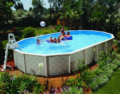 Backyard Above Ground Pools Backyard Patio Ideas With Above Ground Pool Image Landscaping Gardening Ideas