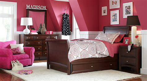 teenage girls bedroom sets ivy league cherry 6 pc full sleigh bedroom teen bedroom