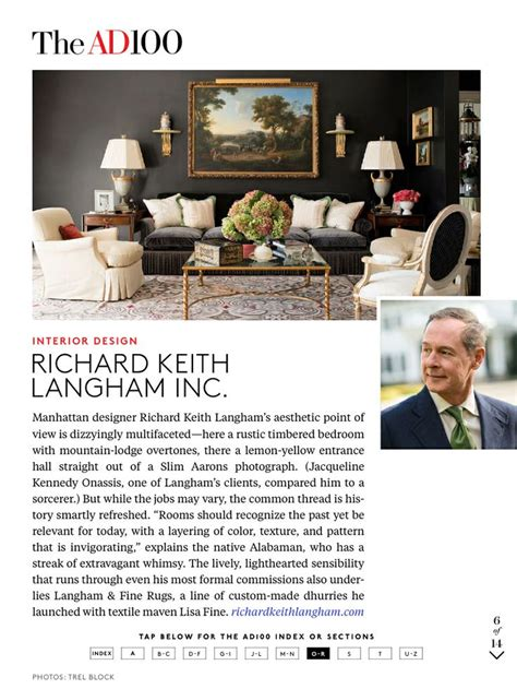 2017 ad100 richard keith langham inc architectural digest 17 best images about design richard keith langham on