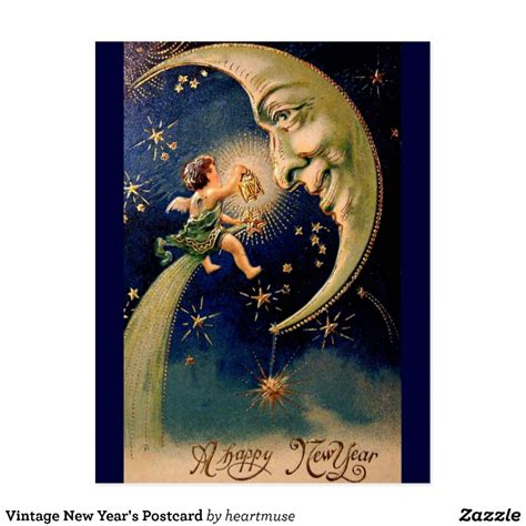 new year postcard vintage new year s postcard zazzle