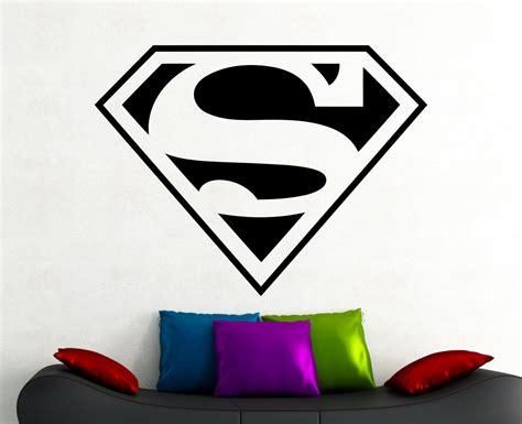 superman wall sticker superman logo decal wall sticker comics living room