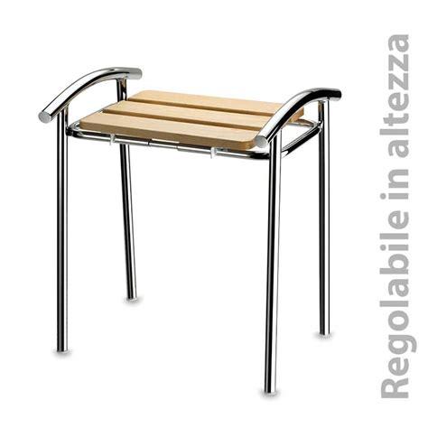 misure sgabello sgabello da bagno altezza regolabile varie misure 42 45 48