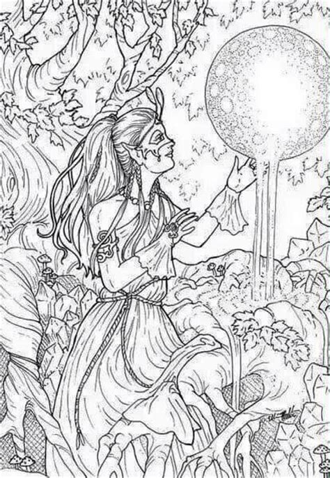 elf coloring pages for adults 64 best images about elves coloring on pinterest