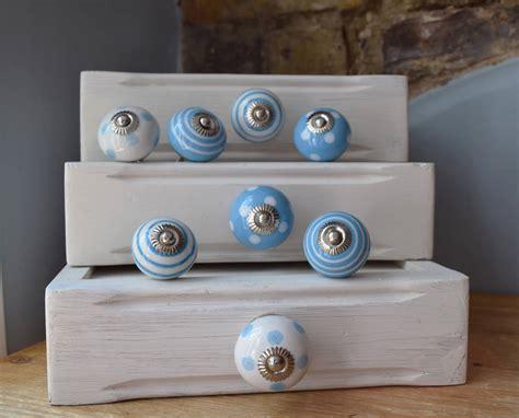 Pushka Door by Set Of Eight Blue Mixed Ceramic Cupboard Door By