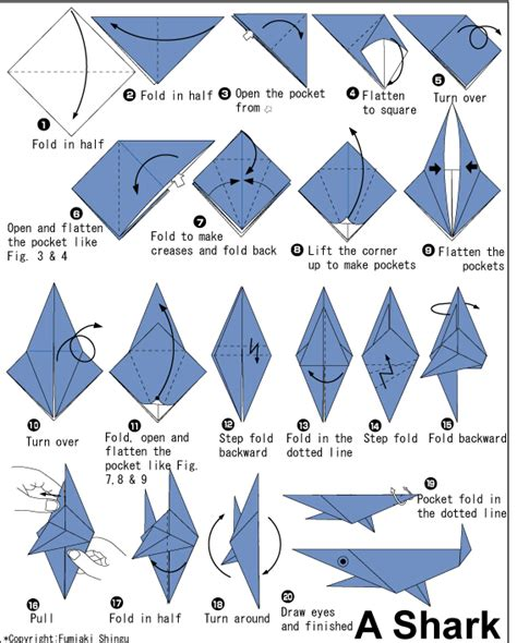 Origami For Children Pdf - shark easy origami for