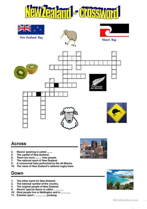 easy crossword puzzles nz new zealand crossword worksheet free esl printable