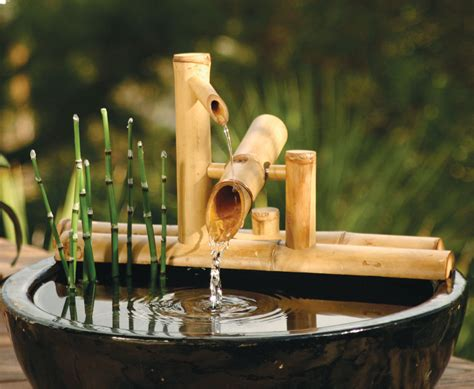 japanese style bamboo water fountain matt and jentry
