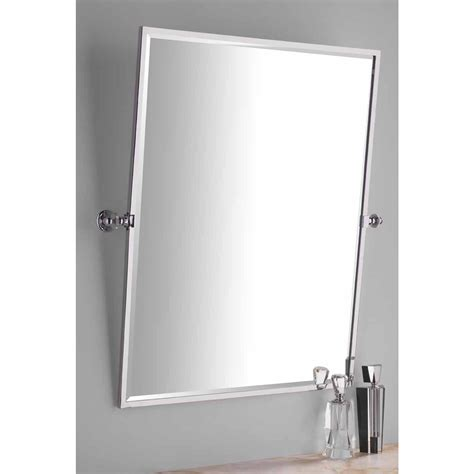 Crema Marfil Vanity Top Tilting Bathroom Mirror Chrome Bathroom Design