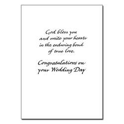 as you become one in wedding congratulations card