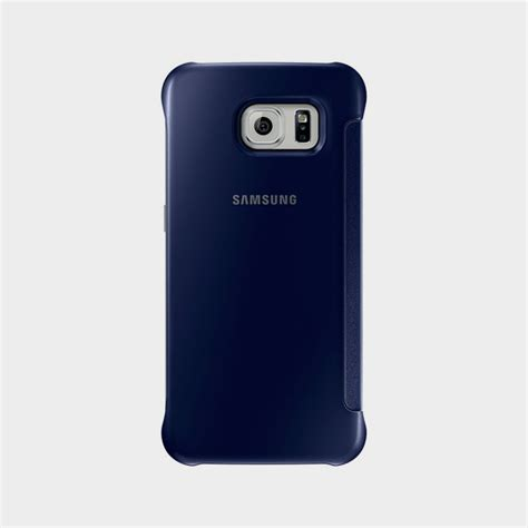 Clear View Cover Samsung S6 samsung galaxy s6 clear view cover blue alaneesqatar qa