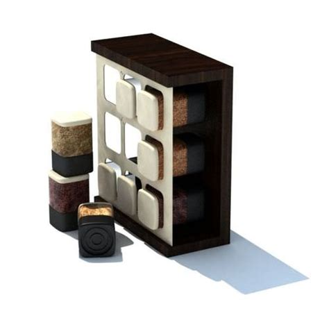 Space Saving Spice Rack Space Saving Spice Rack 3d Model