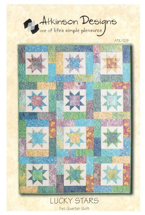 Quarter Quilts Patterns by Lucky Quarter Quilt Pattern By Atkinson Designs