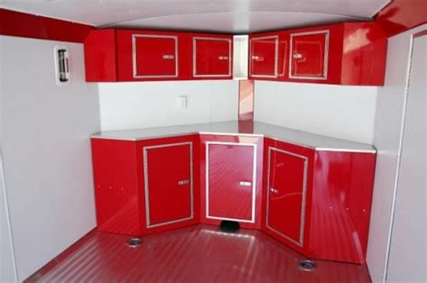 enclosed trailer cabinets accessories save gas aluminum 20 plus 5 wedge enclosed cargo race car