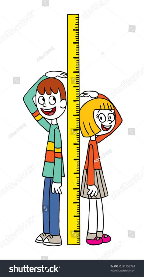 picture height height measure stock vector 91959794 shutterstock