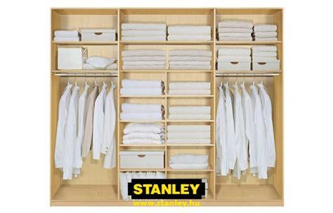 Stanley Closet Organizer by Be 233 P 237 Tett Szekr 233 Ny Bels蜻 Kialak 237 T 225 Sa Stanley 4 Gardr 243 B