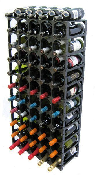 cellar stak wine racking system modular wine racks convenience kits black  bottle