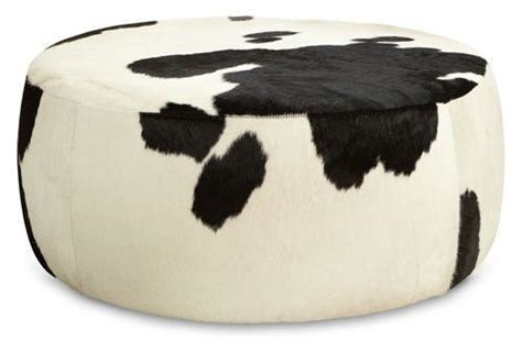 Cowhide Cocktail Ottoman lind cowhide ottomans cocktail tables living spaces room board