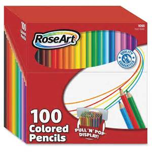 100 colored pencils roseart 100 presharpened colored pencils assorted lead
