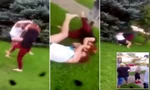 backyard girl fights home daily mail online