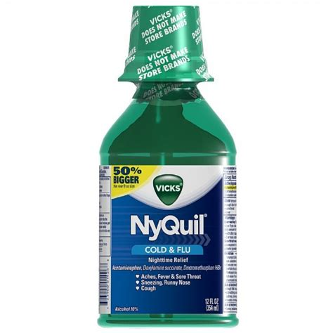 Nyquil Cold Flu Nighttime Relief Liquid vicks nyquil cold flu nighttime relief liquid pharmapacks