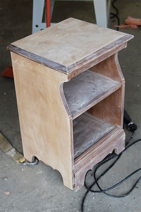 How To Refinish Nightstand by Refinish Wood Stand