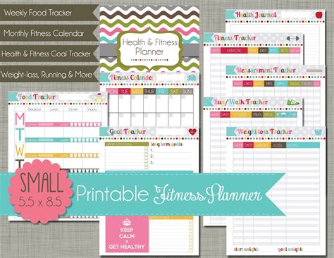 printable fitness planner free the polka dot posie planners