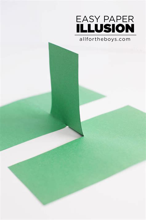 How To Make A Paper Illusion - easy paper illusion all for the boys