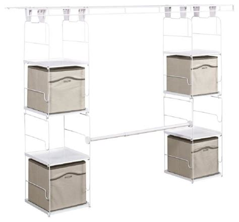 Home Depot Rubbermaid Closet Design Rubbermaid Closet Organization 24 In To 48 In Expandable