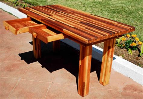 Wood Patio Table Plans by Triyae Backyard Table Designs Various Design